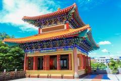 Traditionele Chinese stijltempel in Wat Leng-Noei-Yi in Nonthab Stock Afbeeldingen