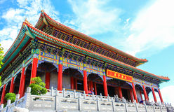 Traditionele Chinese stijltempel in Wat Leng-Noei-Yi in Nonthab Stock Afbeelding