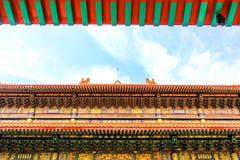 Traditionele Chinese stijltempel in Wat Leng-Noei-Yi in Nonthab Royalty-vrije Stock Afbeeldingen