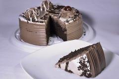 Traditionele chocoladecake Stock Foto's