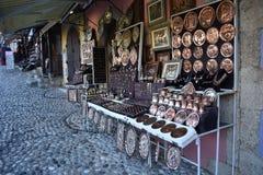 Traditionele copperware en tinware stock afbeelding