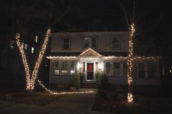 Traditionele cristmassdecoratie in Boston, de V.S. op 11 December, 2016 Stock Foto