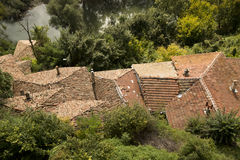 Traditionele daken in Veliko Tarnovo Stock Foto
