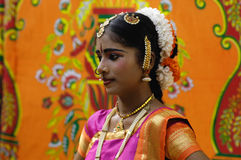 Traditionele Danser, Zuid-India Royalty-vrije Stock Fotografie
