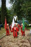 Traditionele de muziekband van de ottomane (Mehter) Stock Afbeeldingen
