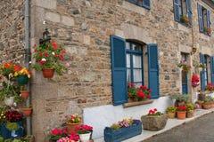 Traditionele decotative bloemen in Normandië, Frankrijk Stock Afbeeldingen