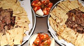 Traditionele Denizli-kebab in Egeïsch Turkije royalty-vrije stock afbeelding