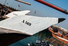 Traditionele Dhows in Abu Dhabi Royalty-vrije Stock Afbeelding