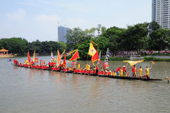 Traditionele Draakboot in Guangzhou Stock Foto
