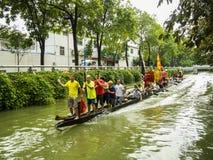 Traditionele Draakboot in Guangzhou Royalty-vrije Stock Fotografie