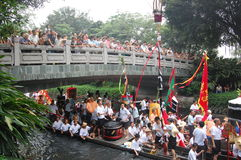 Traditionele dragonboat Stock Fotografie