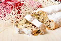 Traditionele Duitse bakkerij: Kerstmis van Dresden stollen Royalty-vrije Stock Foto