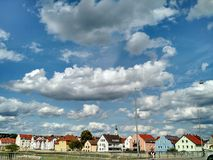 Traditionele Duitse huizen, Regensburg royalty-vrije stock foto