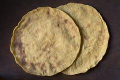 Traditionele eigengemaakte graantortilla's Stock Afbeelding