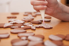 Traditionele eigengemaakte Kerstmispeperkoek Stock Afbeeldingen