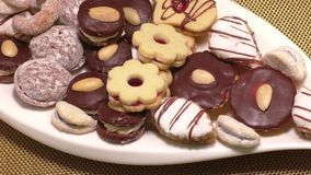 Traditionele Eigengemaakte koekjes stock footage