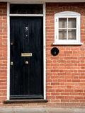 Traditionele Engelse huis vooringang Stock Foto