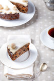 Traditionele Engelse Pasen-cake met marsepein royalty-vrije stock fotografie