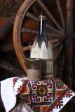 Traditionele fles wijn Stock Afbeelding
