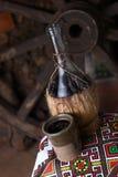 Traditionele fles wijn Royalty-vrije Stock Afbeelding