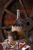Traditionele fles wijn Royalty-vrije Stock Foto's