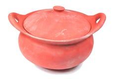 Traditionele fornuizen en potten geplaatst die van rode klei worden gemaakt Stock Afbeelding