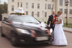 Traditionele fotobruid en bruidegom stock fotografie