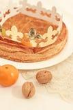 Traditionele Franse cake, Galette des Rois Royalty-vrije Stock Afbeeldingen