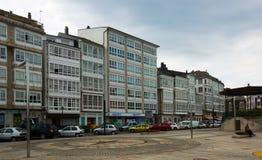 Traditionele Galicische woonplaatsarchitectuur bij van Viveiro Stock Foto's