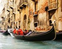 Traditionele gandolarit van Venetië Royalty-vrije Stock Fotografie