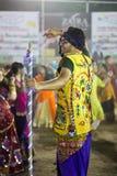 Traditionele Garba-nacht op Navratri - India Royalty-vrije Stock Foto's