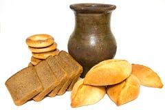Traditionele gebakjes en brooddrank Royalty-vrije Stock Afbeelding