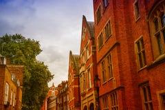Traditionele gebouwen en architectuur van Londen Royalty-vrije Stock Afbeeldingen