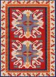 Traditionele Geometrische Etnisch oriënteert Antieke Tapijttextiel Stock Foto