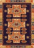 Traditionele Geometrische Etnisch oriënteert Antieke Tapijttextiel Stock Afbeelding