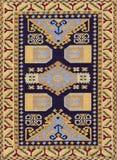 Traditionele Geometrische Etnisch oriënteert Antieke Tapijttextiel Royalty-vrije Stock Foto