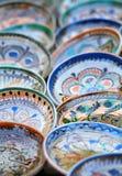 Traditionele geschilderde keramiek Stock Fotografie