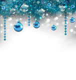 Traditionele gloeiende achtergrond met Kerstmisdecoratie Royalty-vrije Stock Foto