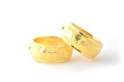 Traditionele gouden armbanden Stock Afbeeldingen