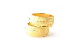 Traditionele gouden armbanden Royalty-vrije Stock Afbeeldingen