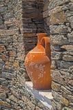 Traditionele Griekse decoratie op Sifnos-eiland Stock Afbeeldingen