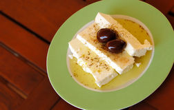 Traditionele Griekse feta kaas stock foto's