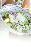 Traditionele Griekse salade Royalty-vrije Stock Afbeeldingen