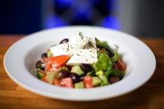 Traditionele Griekse Salade Stock Afbeelding