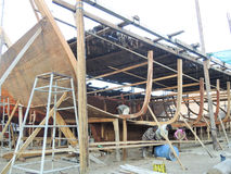 Traditionele handwerkscheepsbouw Sur Oman Royalty-vrije Stock Afbeelding