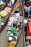 Traditionele het drijven markt, Thailand. Royalty-vrije Stock Foto