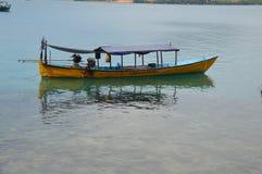 Traditionele het duiken boot stock fotografie
