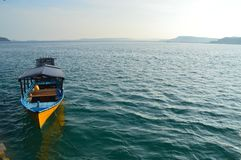 Traditionele het duiken boot stock foto's