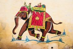 Traditionele het schilderen muur Stock Afbeeldingen