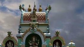 Traditionele Hindoese tempel, Zuid-India, Kerala stock video